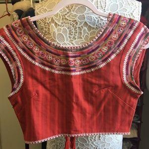 Billabong Embroidered Crop top